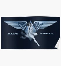 Blue Angel Pinup Poster