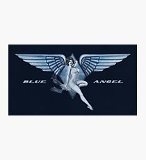 Blue Angel Pinup Photographic Print