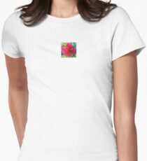 Number 87 red bottle brush Women's Fitted T-Shirt