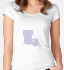 Louisiana Love in Lilac Women's Fitted Scoop T-Shirt