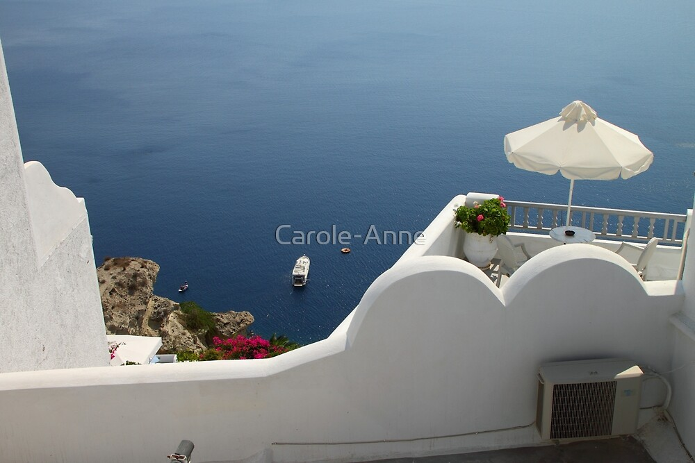 Balcony Oia, Santorini, Greek Islands by Carole-Anne