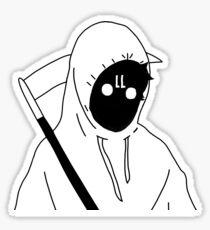 Hooded HOLLO face sticker Sticker