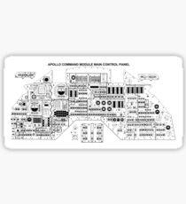 NASA - Apollo Command Module Main Control Panel Sticker