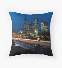 Melbourne Rush Hour Throw Pillow