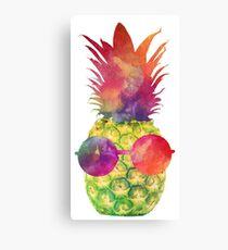 Green Pineapple Canvas Print