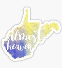 Almost Heaven West Virginia Sticker