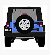 Off-Road Jeep    Blue Photographic Print