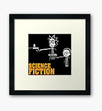 Science Fiction Rick and Morty Pulp Fiction Framed Print