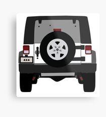 Off-Road Jeep   White Metal Print