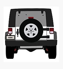 Off-Road Jeep   White Photographic Print