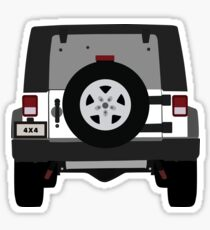 Off-Road Jeep | White Sticker