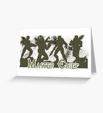 Master Chief Era Progression Greeting Card