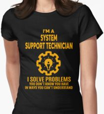 SYSTEM SUPPORT TECHNICIAN - NICE DESIGN 2017 Women's Fitted T-Shirt