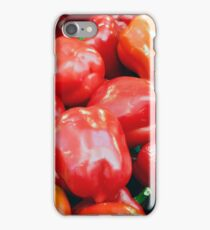 Fresh red peppers. iPhone Case/Skin