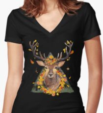 The Spirit of the Forest Women's Fitted V-Neck T-Shirt