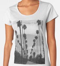 Vintage Black & White California Palm Trees Photo Women's Premium T-Shirt