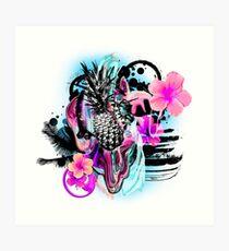 Hibiscus Punch Art Print