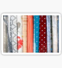 Rolls of fabric textures Sticker