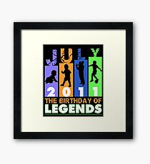 Legends Born In July 2011 T Shirt Birthday Gift 06 Years Old Framed Print
