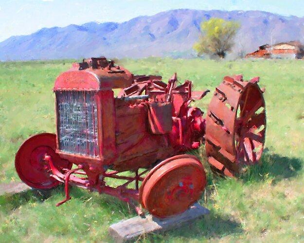 Spring tractor by Eric Melander