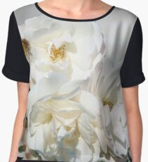 white blooming roses Chiffon Top