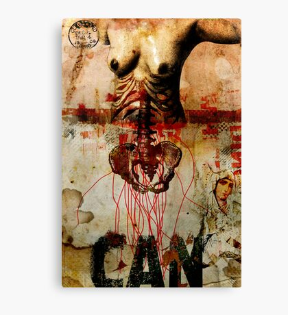DEATH WAS KNOCKING AT HER DOOR, SHE RESIST BUT FINALLY SHE LET GO Canvas Print