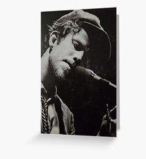 Tom Waits Photo from Nighthawks LP Greeting Card