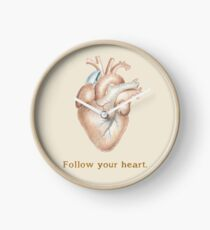 Follow your heart Clock