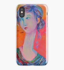 Portrait Modigliani style Woman Portrait Painting Female Figurative  iPhone Case/Skin