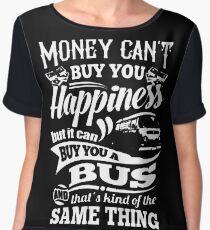 Happiness is a bay bus Women's Chiffon Top
