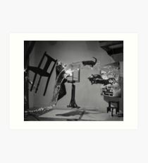 Dali Atomicus - by Philippe Halsman - Enhanced Art Print
