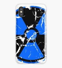 Radiation / Nuclear Decayed (Blue) iPhone Case/Skin