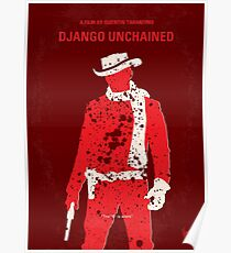 No184- Django Unchained minimales Filmplakat Poster