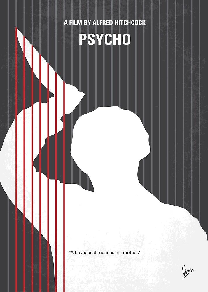 No185- Psycho minimal movie poster by ChungKong Art