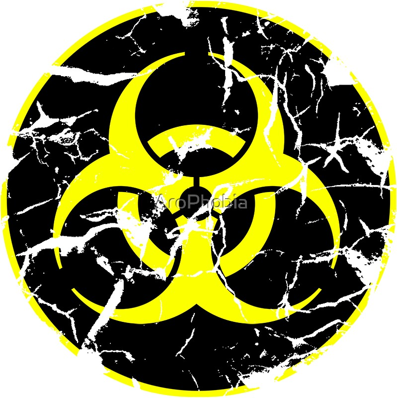 Biohazard logo decayed yellow by arophobia