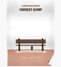 No193- Forrest Gump minimal movie poster Poster