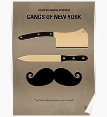 No195- Gangs of New York minimal movie poster Poster