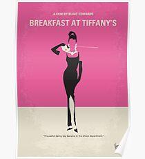 No204- Breakfast at Tiffanys minimal movie poster Poster