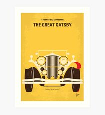 No206- The Great Gatsby minimal movie poster Art Print
