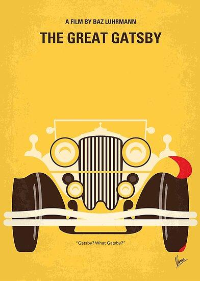 No206 - The Great Gatsby minimales Filmplakat von ChungKong Art