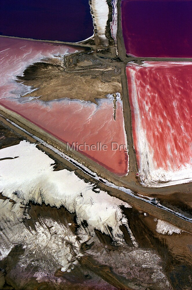 The heart of the salt flat by Michelle Dry