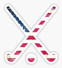 USA Flag Field Hockey Sticker