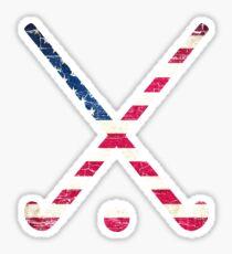 Pegatina Hockey de campo de la bandera de los EEUU