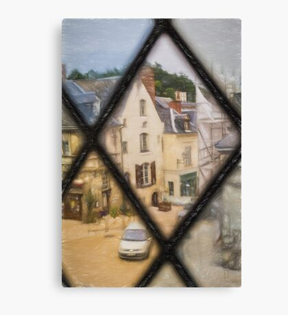 Langeais from Chateau Window Canvas Print