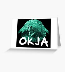Okja green Greeting Card