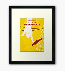 No276- Attack of the 50 Foot Woman minimal movie poster Framed Print