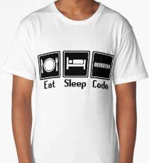 Eat Sleep Code Long T-Shirt