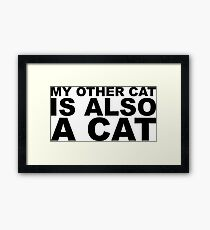 My Other Cat is also a Cat Framed Print