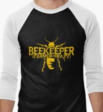 Beekeeper Farmer + Crazy Shirt Men's Baseball ¾ T-Shirt