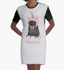 Pugicorn Graphic T-Shirt Dress